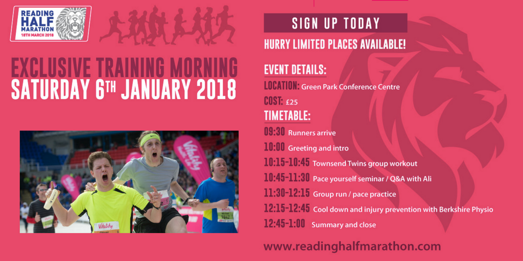 Reading half training morning with timetable - FB link preview & Twitter1